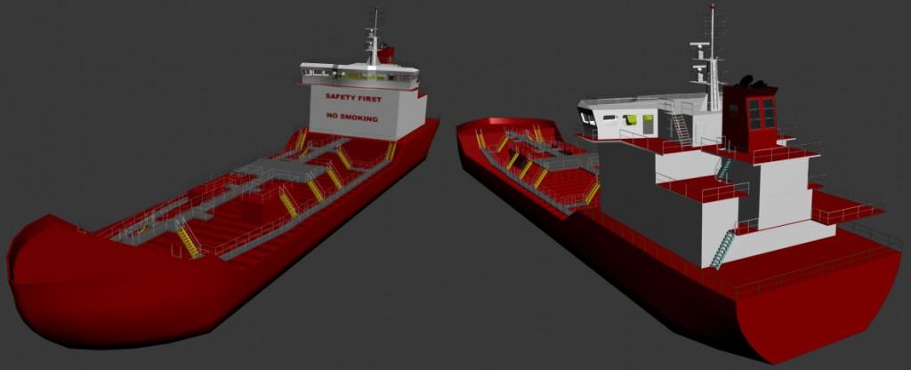 Virtual 3D Ship rå model