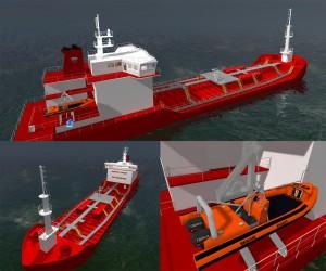 Virtual 3D Ship flere vinkler