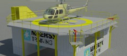 En container training base. Dette er en 3D model af en træningsbase, som skulle visualiseres for Mærsk Training.