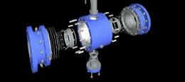 3D ventil til træningsprogram, hvor brugeren skal indøve procedure i at samle en ventil.