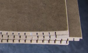 Reinforced Masonite plates