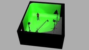Greenscreen Cyclorama 3D rendering 01